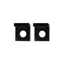 Tendeurs de chaîne alu carré - 15mm - Noir
