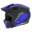 MT Casque Trial Cross Streetfighter version Noir Bleu
