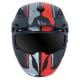 MT Casque Trial Cross Streetfighter version Noir Rouge